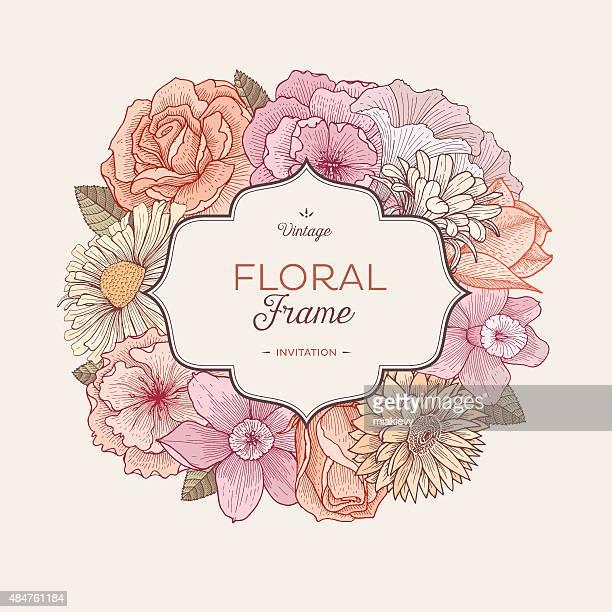Vintage Bouquet Label