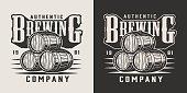 Vintage brewing company emblem