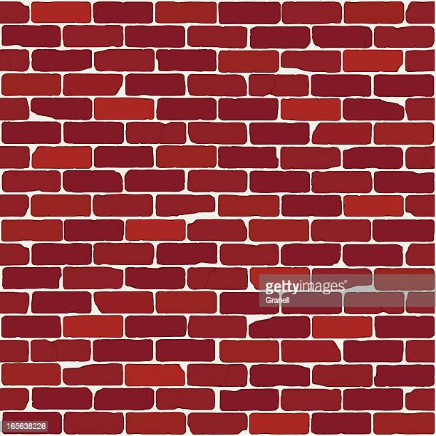vintage brick wall (seamless) - brick stock illustrations