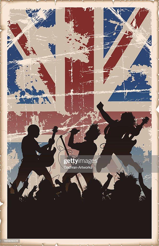 Vintage British Rock Poster