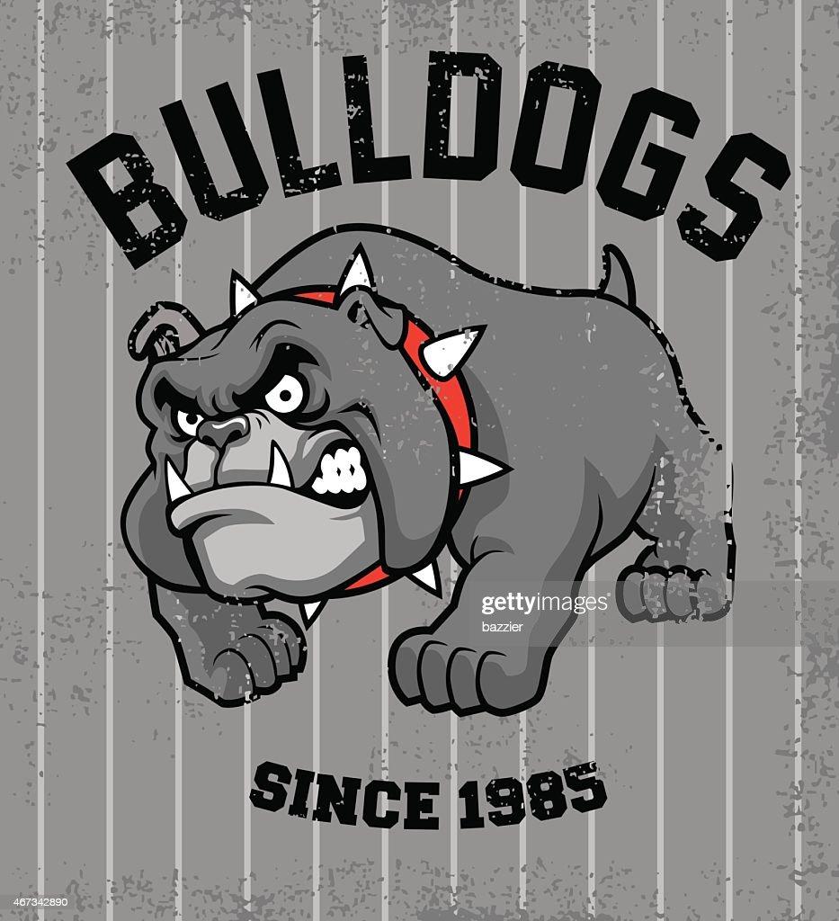 vintage bulldog mascot