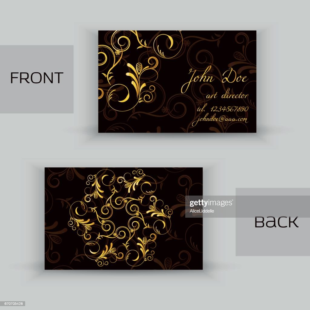 Vintage business card with metallic foil texture mandala design vintage business card with metallic foil texture mandala design tribal ornament retro decorative colourmoves