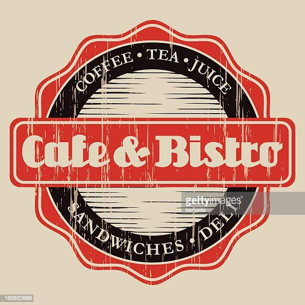Vintage Café & Bistro Label