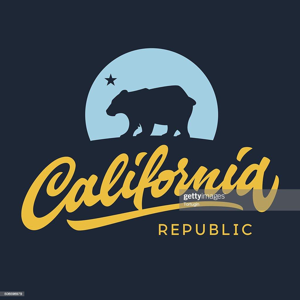 Vintage california republic apparel design