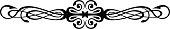Vintage Calligraphic Swirls - Floral Wicker Rosette, Decorative Vignette in Vector