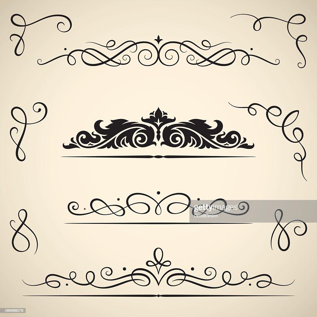 Vintage calligraphic swirls : stock illustration