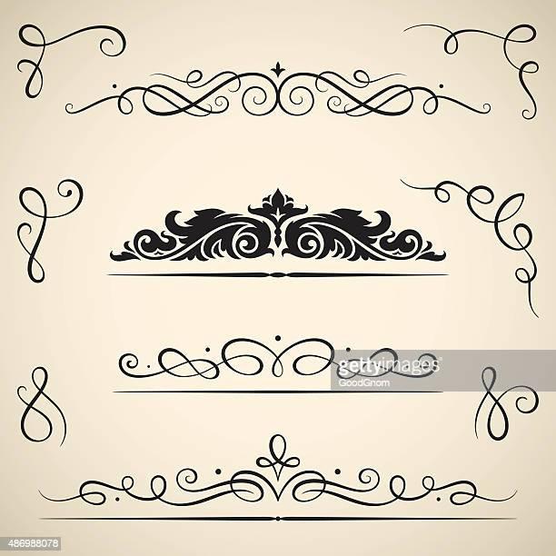 Vintage calligraphic swirls
