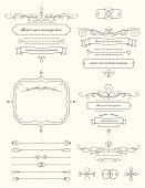 Vintage Calligraphy Design Elements Two