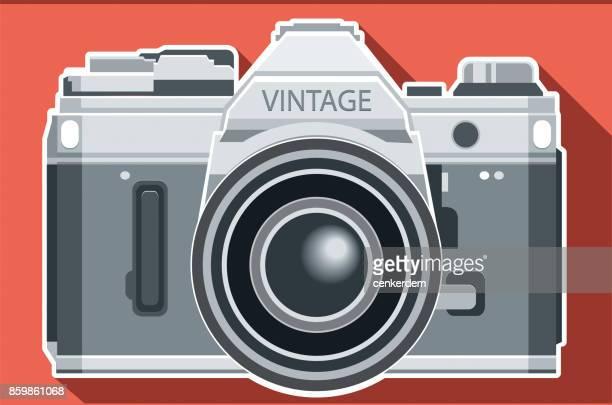 ilustrações de stock, clip art, desenhos animados e ícones de vintage camera - maquina fotografica antiga