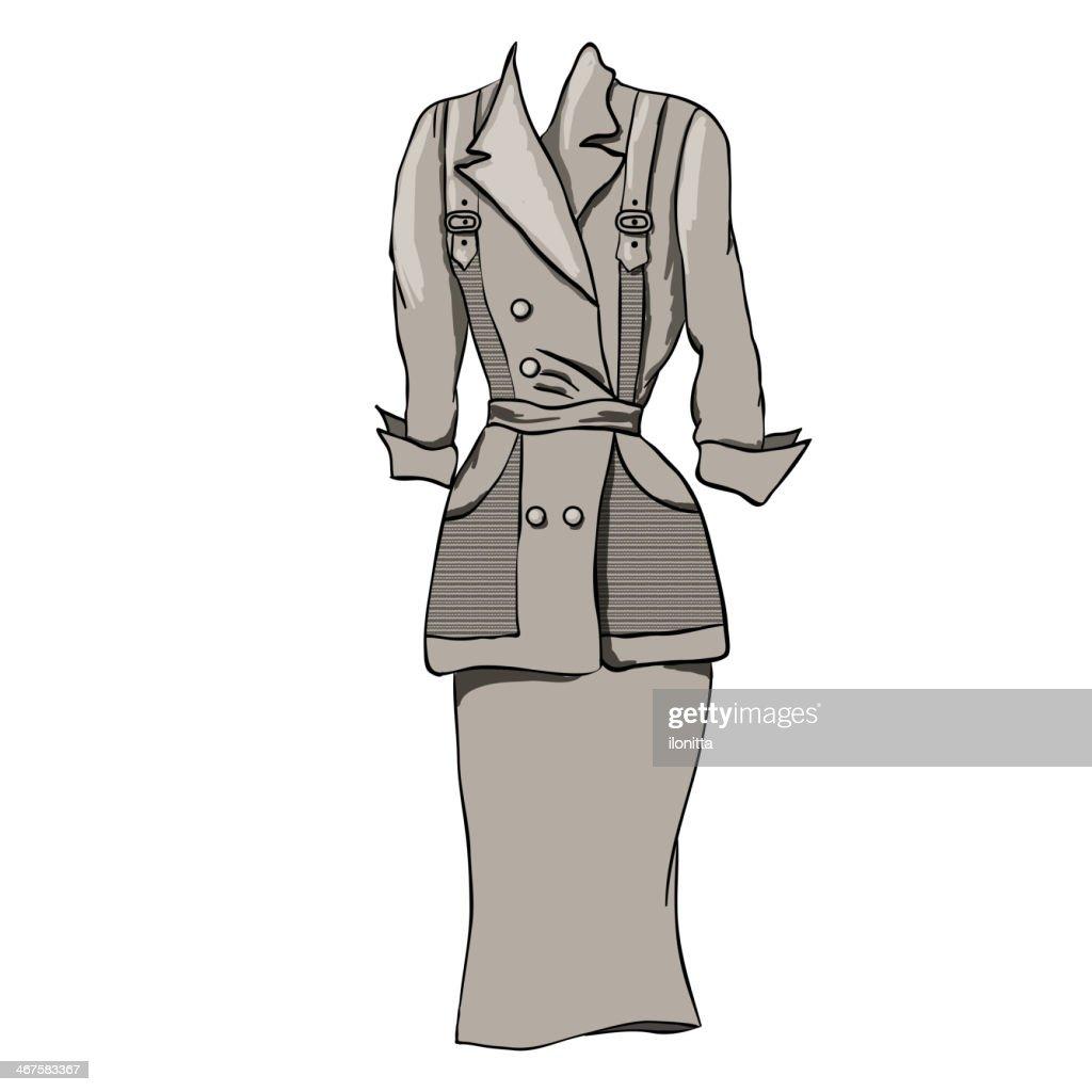Vintage camisole. Beige.Vector illustration.