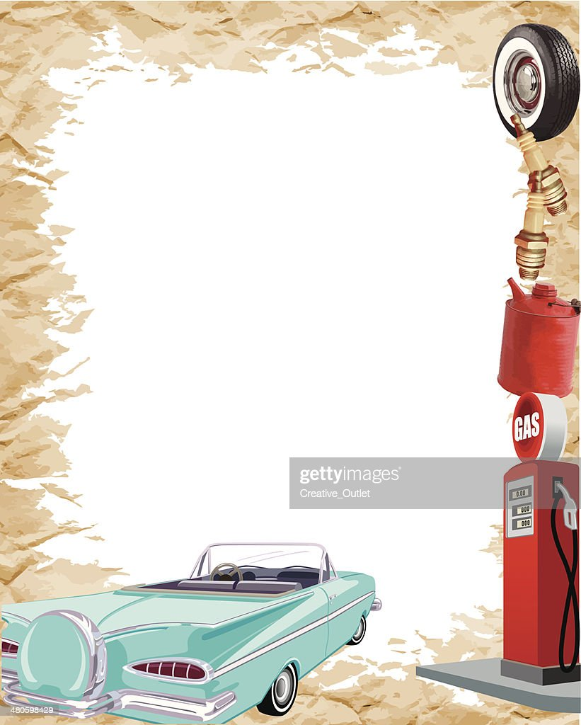 Vintage Car Frame2 C : Vector Art