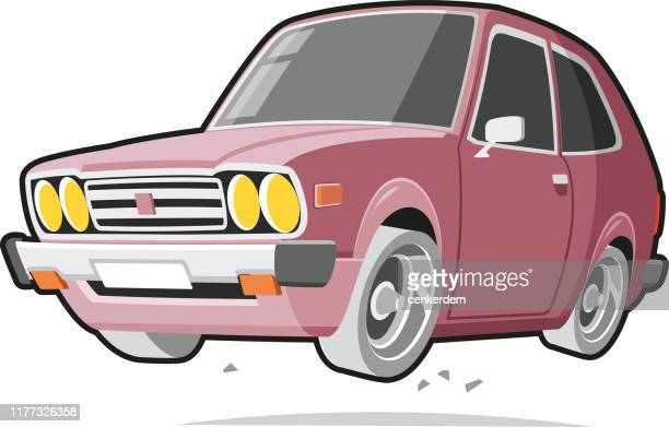 vintage car - car ownership stock illustrations, clip art, cartoons, & icons