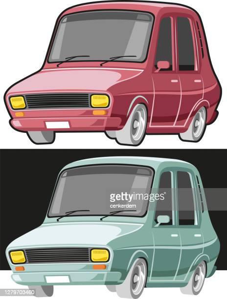 ilustraciones, imágenes clip art, dibujos animados e iconos de stock de coche vintage - siglo xx