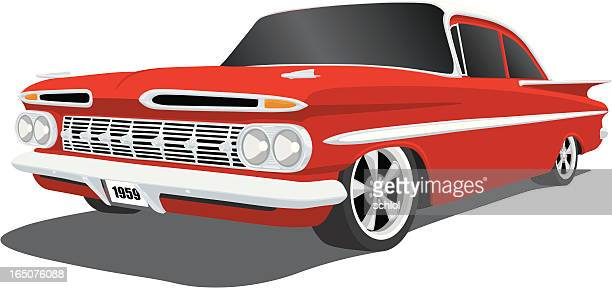 vintage car - 1950 1959 stock illustrations