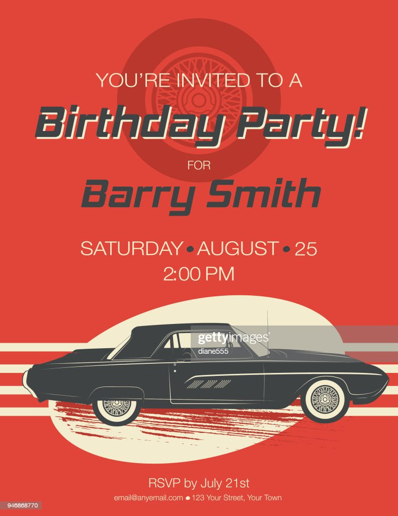 Nice Vintage 21st Birthday Invitations Sketch - Invitations and ...