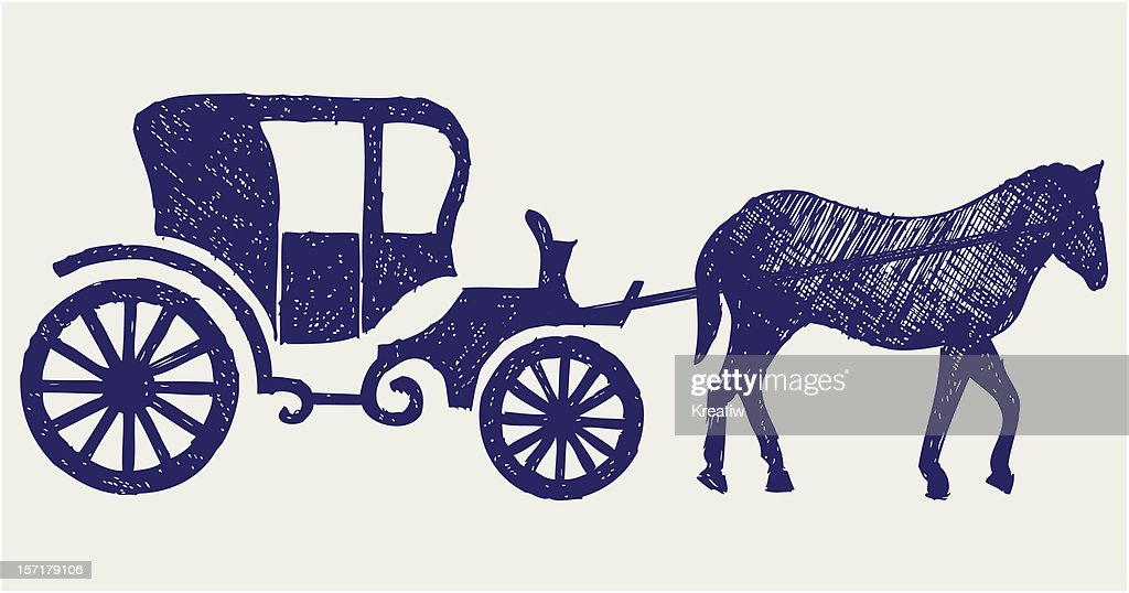 Vintage carriage and horse
