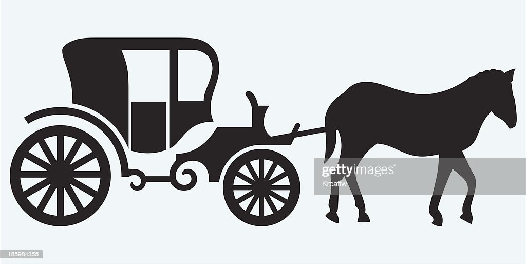 Vintage carriage and horse-drawn