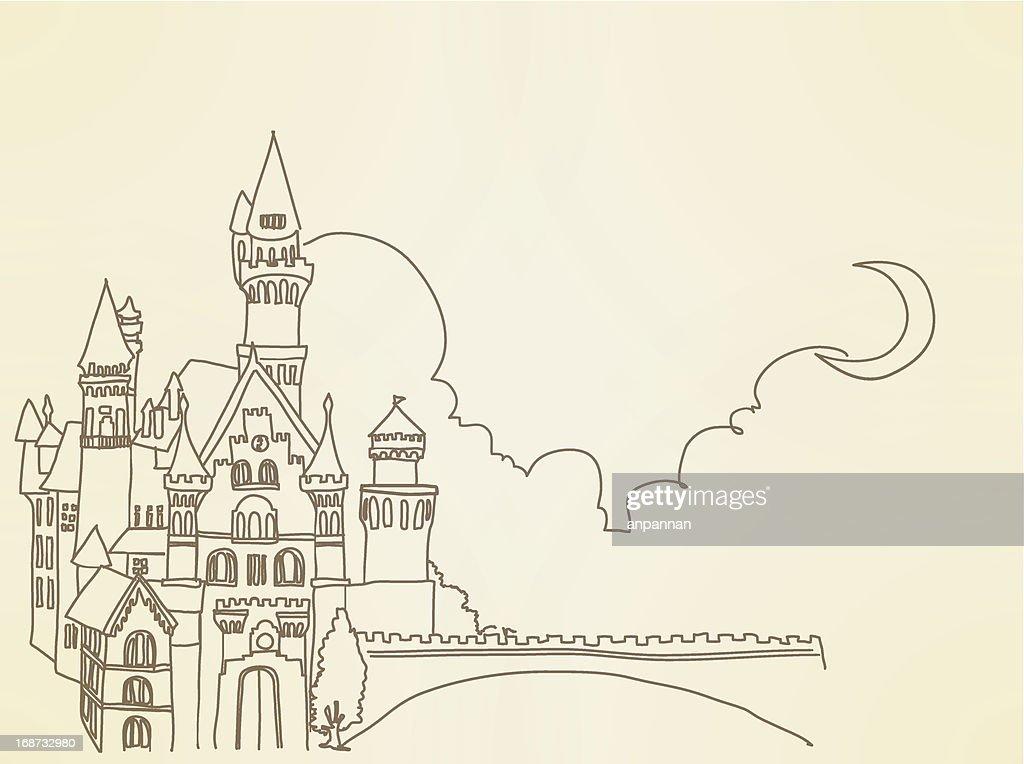 Vintage Castle - Vector File EPS10