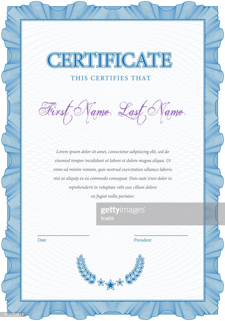 Vintage Certificate Template Diplomas Currency Vector Art Getty Images