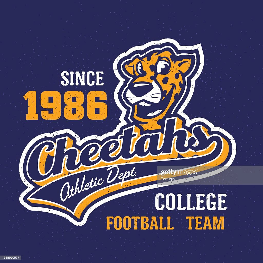 Vintage cheetahs apparel design