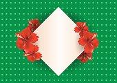 Vintage China Rose card background - Vector Illustration
