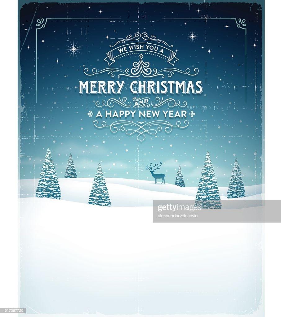 Vintage Weihnachten Hintergrund : Stock-Illustration