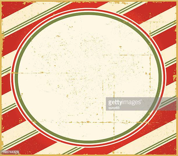 vintage christmas candy cane frame - candy cane stock illustrations