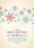 Vintage Christmas Card - Illustration