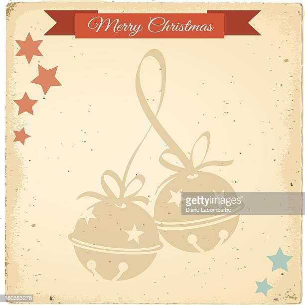 Vintage Christmas Jingle Bells Background
