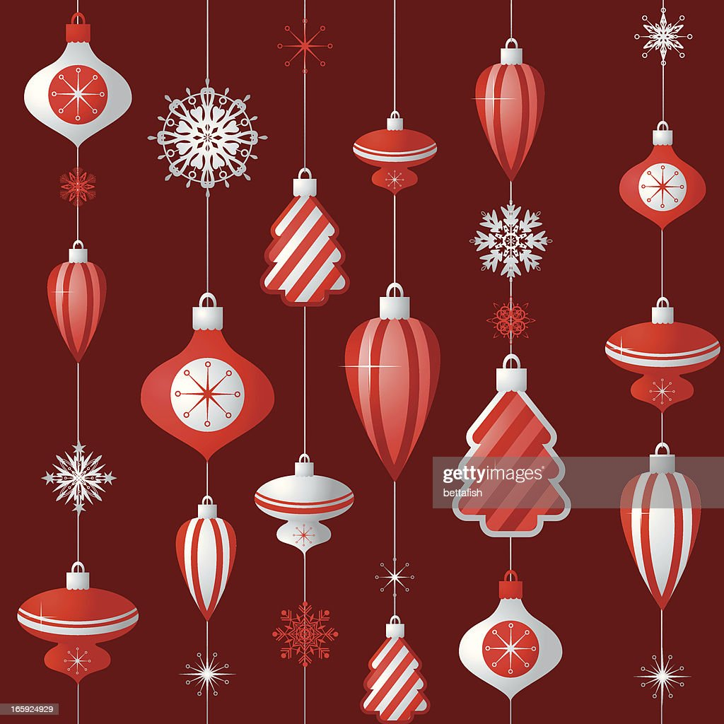 Vintage Christmas Wallpaper Vector Art