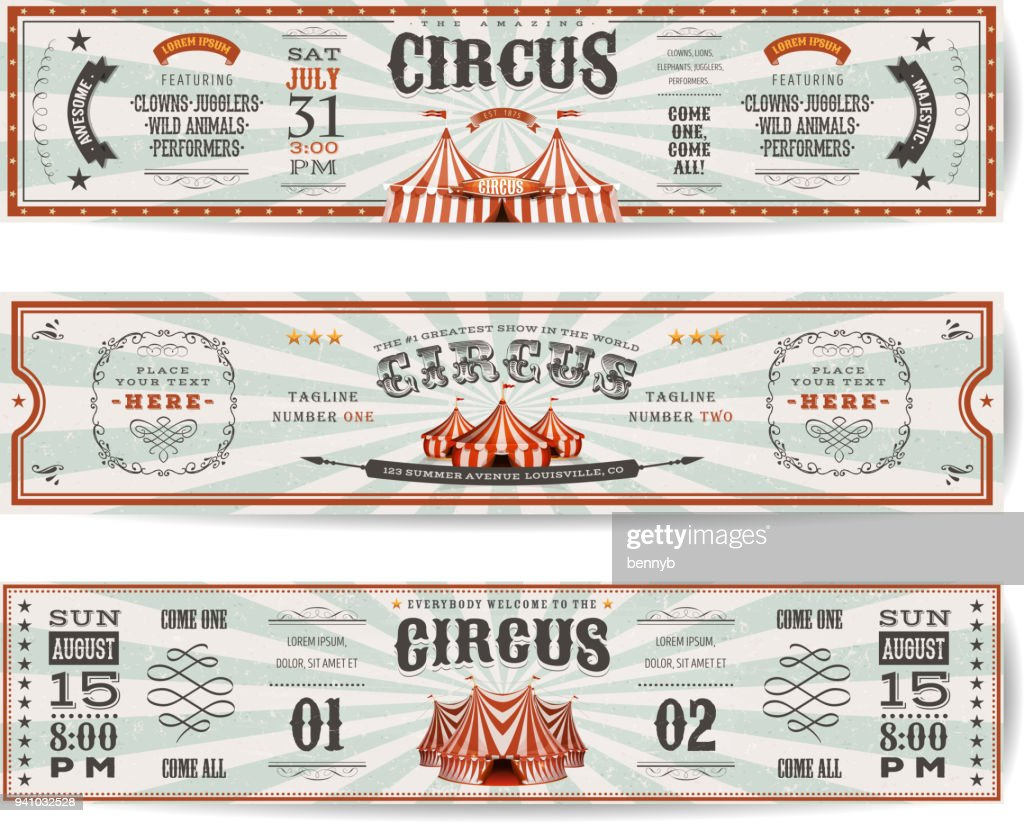 Vintage Circus Website Banners Templates