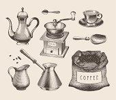 Vintage coffee shop poster