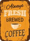 Vintage Coffee Tin Sign