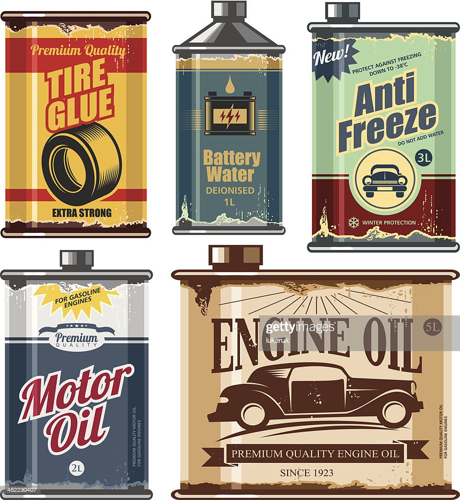 Vintage collection of car and transportation related products