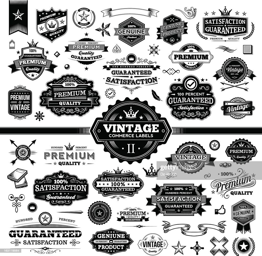 Vintage Commerce Labels - Complete Set 2