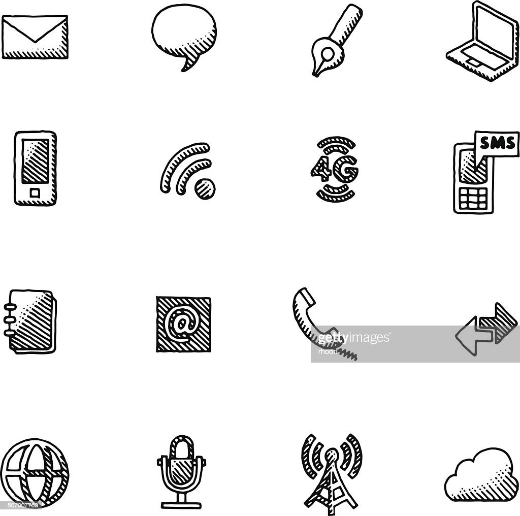 Vintage Communication icons