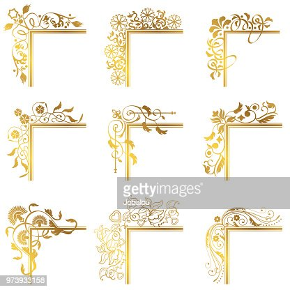 Vintage Corner Frame Border Flourish High-Res Vector ...