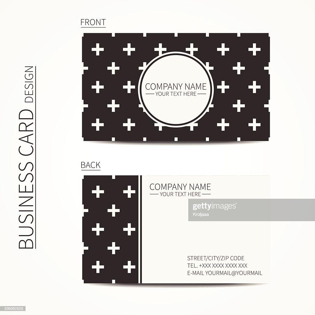 Vintage creative simple  business card template. Vector design eps10.