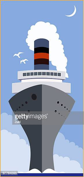 Vintage-Kreuzfahrtschiff