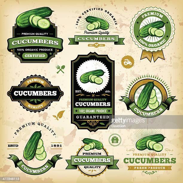 Vintage Cucumber Labels