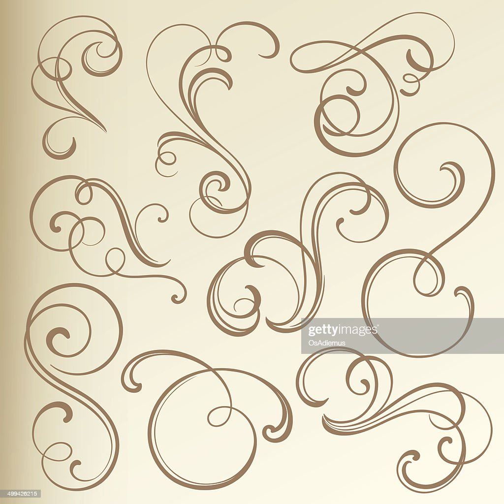 Vintage Curled Vignettes