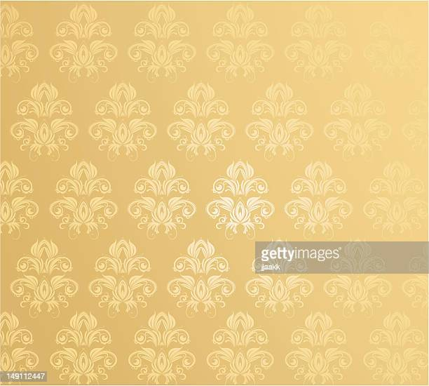 stockillustraties, clipart, cartoons en iconen met vintage damask  wallpaper - koningschap