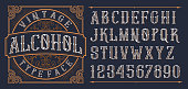 Vintage decorative font.