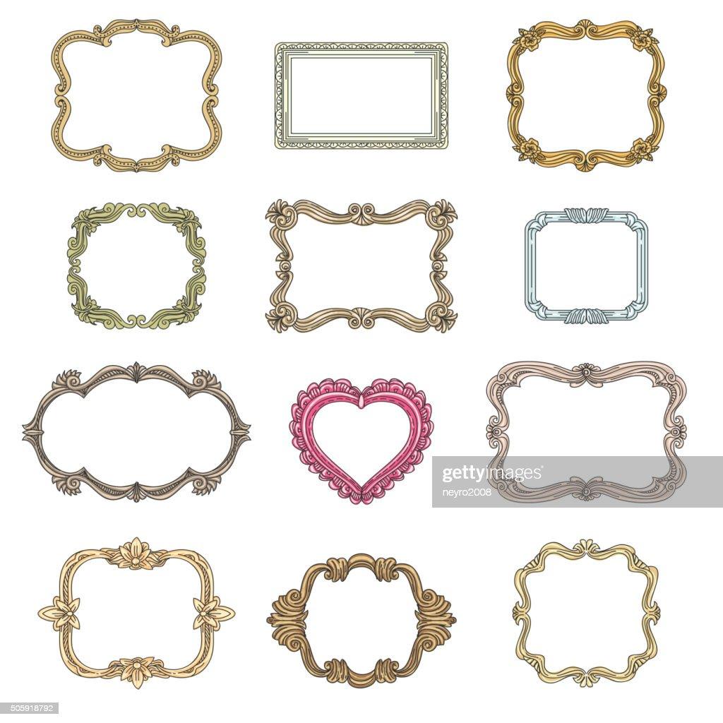 Vintage decorative frames