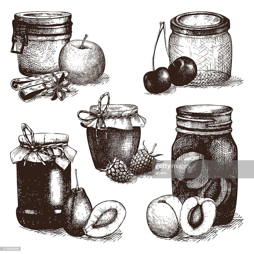 Vintage decorative glass mason or canning jars