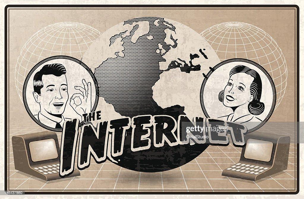 Vintage depiction of the Internet : stock illustration