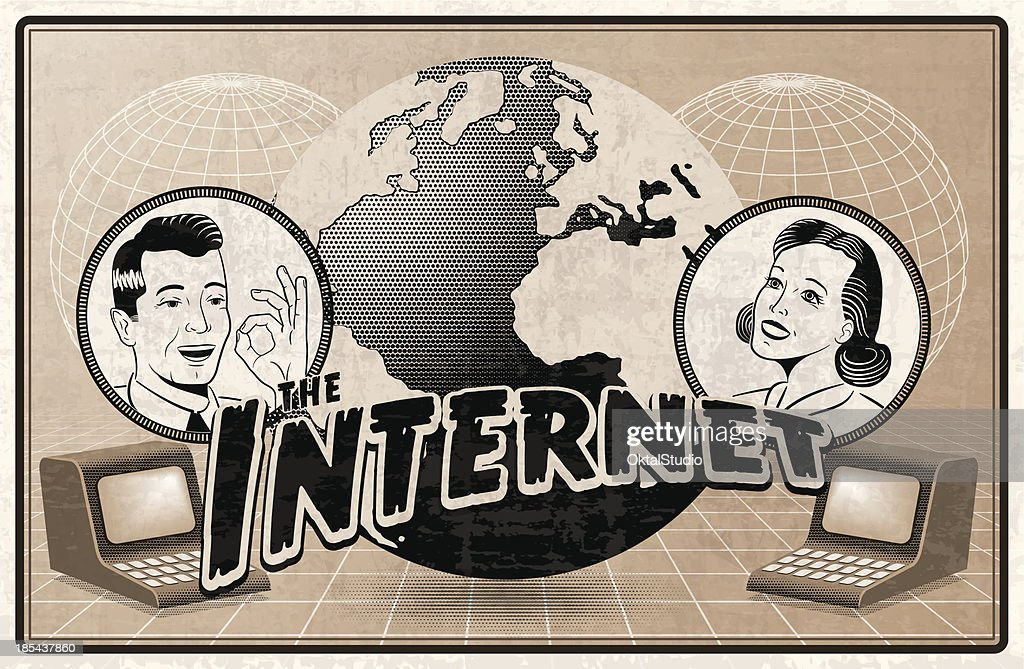 Vintage depiction of the Internet