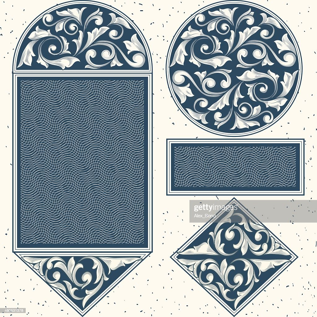 Vintage design elements : Vektorgrafik