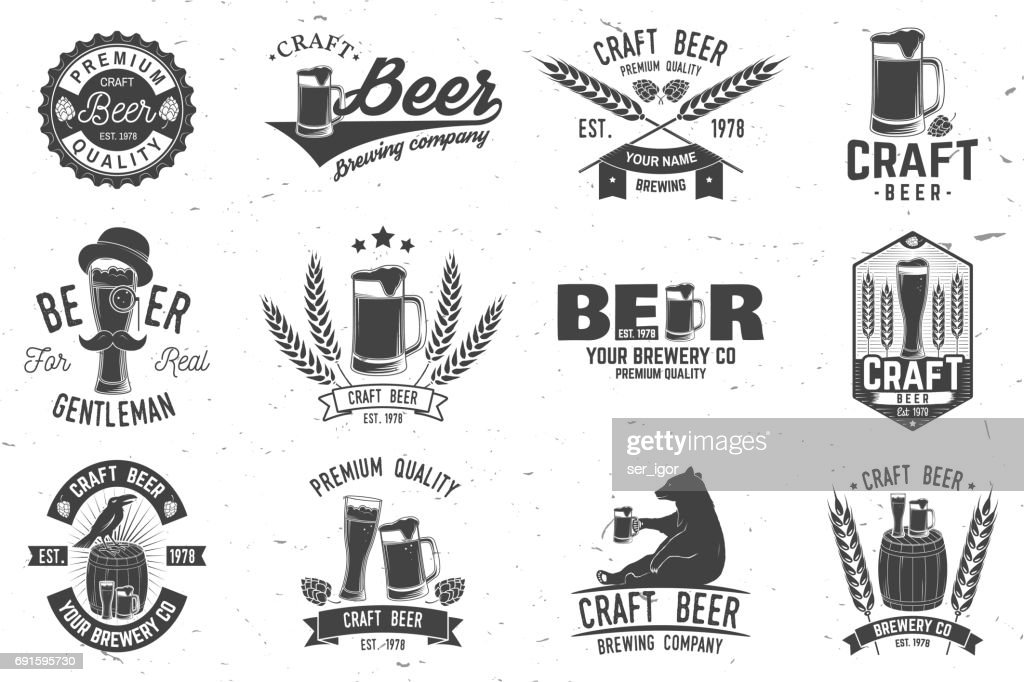Vintage design for bar, pub and restaurant business