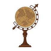 vintage desktop globe
